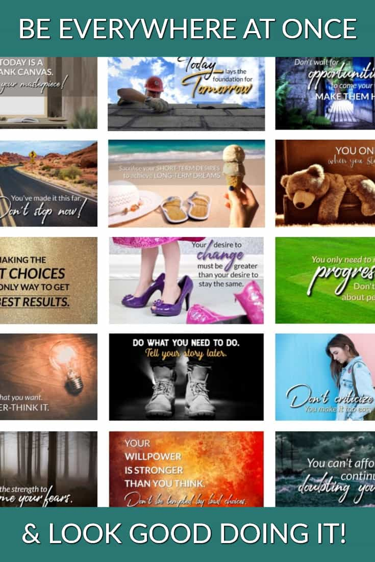 Our new PLR is package here - PLR Social Posters & Pep Talks! Let us help you encourage others, be everywhere at once, and look good doing it! ;-) #encouragement #plr #peptalk #socialmedia #blogtools