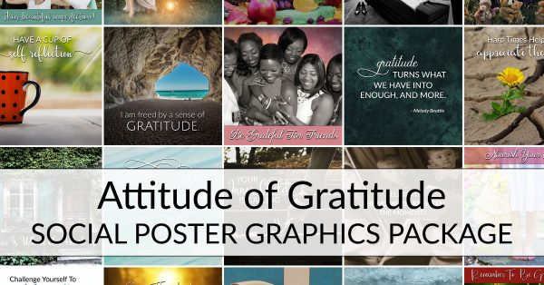 Attitude of Gratitude Social Poster Package