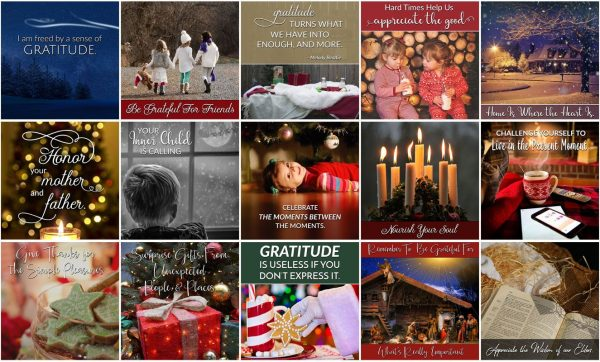 Christmas Attitude of Gratitude Social Poster Package