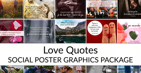 Love Quotes Social Posters