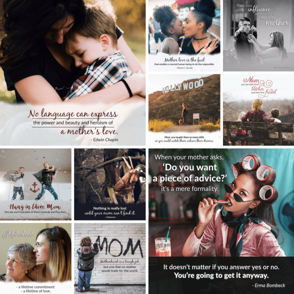 Mother: The Unsung Hero Social Posters